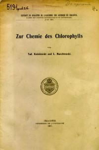 Zur Chemie des Chlorophylls