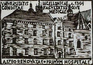 Budynek jednego znajstarszych szpitali klinicznych wdrzeworytach prof.Lejmana