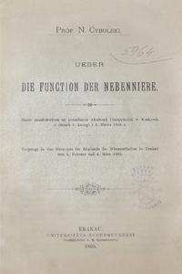 Die Function Der Nebenniere - N. Cybulski