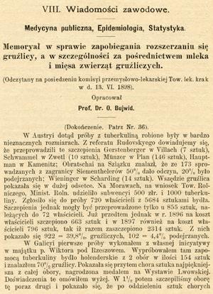 Memoriał prof.O. Bujwida